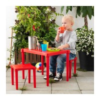 Ikea Utter ~ Meja Anak + 2 Bangku | Merah | Meja Belajar&Bermain Anak