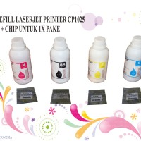 TONER REFILL FOR USE LASERJET PRINTER CP1025 + CHIP UNTUK 1X PAKE