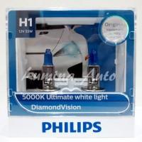 Philips Diamond Vision H1 55 Watt - Lampu Halogen Mobil Putih 5000K