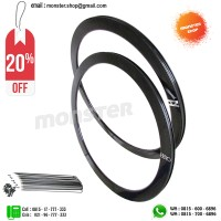 PAKET PROMO Rims H+Son SV 43 Eero 32H 700c Rear+Front+Spoke BLACK