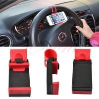 holder hp multifungsi (mobil/motor) / Car Steering Wheel Phone Holder