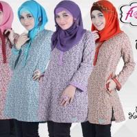 Baju Muslim Modern Florania Tunik Rosella - Blus/atasan Murah