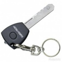 Swiss+Tech Utility Key Multifunction Tool 5 in 1 with Keychain - Black