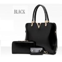 tas jinjing tangan reuni arisan wanita import fashion korea hitam tali