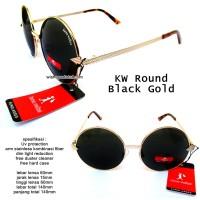 kacamata karenwalkerr rounded black gold full set
