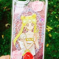 harga Sailor Moon Aquarium Pasir Glitter Blink Hard Case Iphone 6  -  4.7