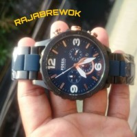 JAM TANGAN FOSSIL JR-1494 Nate Chronograph - Black and Blue