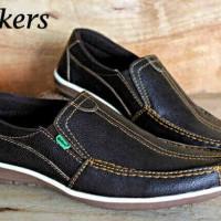 Sepatu Pria Kickers Slop Santai Kulit Jeruk Grade Original Murah# 845