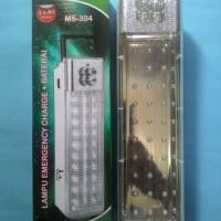 Lampu emergency Charger + baterai 304