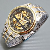 Jam tangan Rolex otomatis romawi tali rantai stainless ( alba casio )