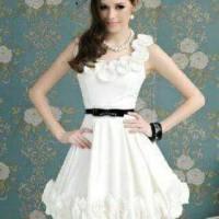 Dress Wanita Busana Wanita Feminim Baju Pesta Bahan Satin Bride S - XL