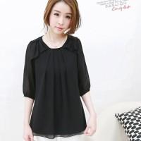 harga Black Lotus Shoulder - Blouse Import - Baju Wanita Style Korea Tokopedia.com