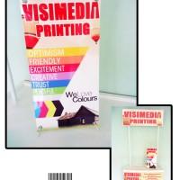 Mini X Banner - Media promosi praktis untuk booth