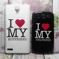 Couple Case on Xiaomi Redmi Note Hardcase White & Samsung S3 Hardcase