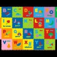 Mainan Anak - Matras Puzzle Evamats / Evamat / Huruf Alphabet Gambar