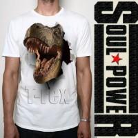 kaos 3d dinosaurus t-rex original soulpowerstyle