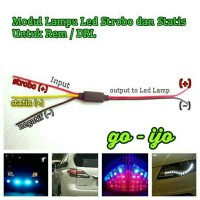 Lampu Rem LED (Modul Strobo / Kedip 3x)