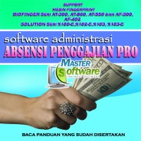 software program penggajian & absensi pro support fingerprint terlaris