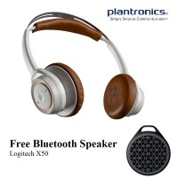 Plantronics Backbeat Sense - White Tan (Free Logitech X50)