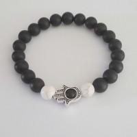 harga Gelang Batu Hamsa Onyx Doff 8mm | Premium Hamsa Bracelet | Gelang Pria Tokopedia.com