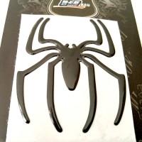 Stiker Mobil Laba-Laba Logo Spiderman Hitam isi 2pcs