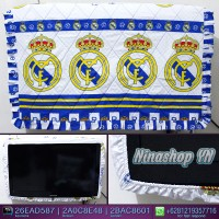 harga Jual Sarung Tv, Cover Tv, Bando Tv, Tutup Tv Led/lcd Motif Real Madrid Tokopedia.com