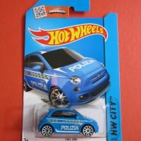 Hot Wheels FIAT 500 Biru (Polizia)