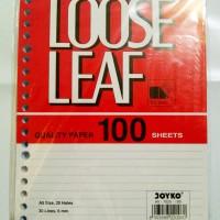 Loose Leaf ( Kertas File) A5 isi 100