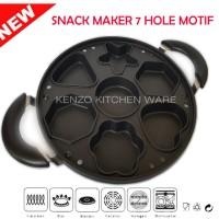 Jual Snack maker cetakan kue cubit 7 lubang motif bintang unik Murah
