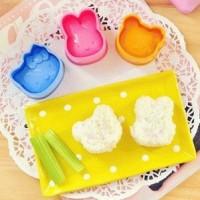 Cetakan Cetak Nasi Bekal Rice Bento Sushi Mold Hello Kitty Isi 3 in 1