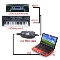 Kabel Konektor Keyboard ke PC - Cable Converter PC to Music Keyboard