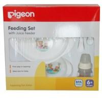 Jual PIGEON Feeding Set with Juice Feeder/Peralatan Makan Bayi - BPA Free Murah