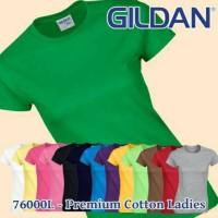 Kaos polos import gildan longsleeve premium cotton 76000L