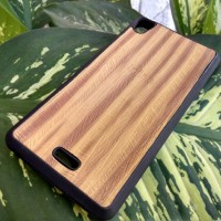 Elegant Wood Soft Case Motif Kayu - Infinix Hot Note X551 Softcase