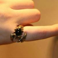 cincin kalajengking scorpion ring batu hitam
