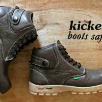 Sepatu Murah Kickers Boot Safety Kulit Asli