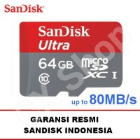 SanDisk Ultra MicroSD 64GB 80MB/s microSDXC UHS-I micro sd Class 10