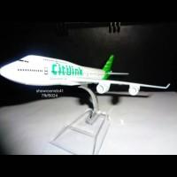 miniatur pesawat terbang citylink airbus 320 pull besi