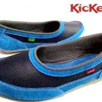 SEPATU KICKERS CASUAL SLIP ON BLUEBLACK
