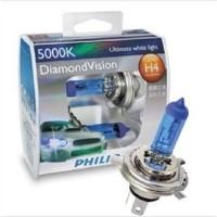 Bohlam / Lampu Philips Diamond Vision H4, H11, H1, H3