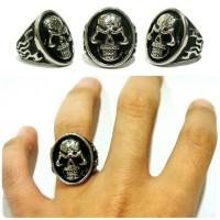 Cincin Tengkorak Bikers - Skull Ring Mirip Fourspeed