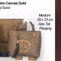 TAS BRANDED GUCCI SOHO CANVAS GOLD LARGE
