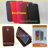 Evercoss Winner S AT7A Leather Case ,sarung hp tablet