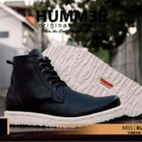 harga Sepatu Boot Humm3r Ares Black Vibram Sole Tokopedia.com
