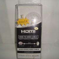 Kabel HDMI Gold Plate Versi 1.4 High Quality Flat 3 Meter Murah