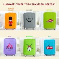 """Luggage Cover """"Fun Traveler Series"""" / Penutup dan Pelindung Koper"""
