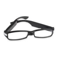 V12 HD1080P 5MP SPY Luxury Eyewear Glasses camera -Hitam/silver