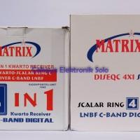 LNB Matrix Kwarto 4 In 1 4 LNB 4 Receiver