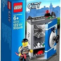 Lego CITY-40110 Coin Bank Set Crook Minifigure Rare Building Toy Promo