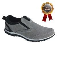 Jual Sepatu Casual Sneaker Slop - Catenzo Suede Gray Murah